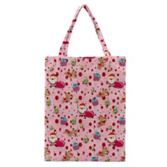Red Christmas Pattern Classic Tote Bags