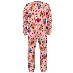 Red Christmas Pattern Onepiece Jumpsuit (men)