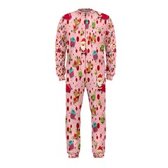 Red Christmas Pattern Onepiece Jumpsuit (kids)
