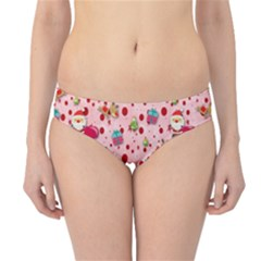Red Christmas Pattern Hipster Bikini Bottoms