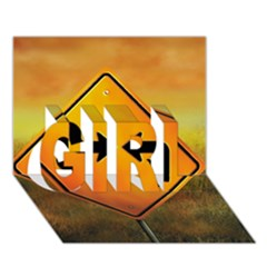 Direction GIRL 3D Greeting Card (7x5)