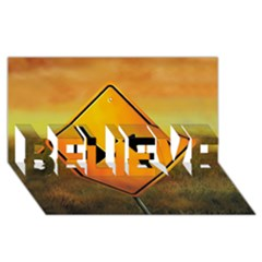 Direction BELIEVE 3D Greeting Card (8x4)