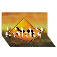 Direction Sorry 3d Greeting Card (8x4)