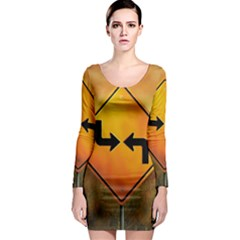 Direction Long Sleeve Bodycon Dresses