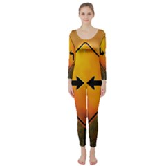 Direction Long Sleeve Catsuit