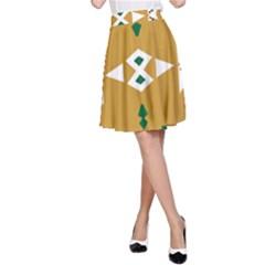 Alvilde Henriette Green A-Line Skirts