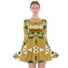 Alvilde Henriette Green Long Sleeve Skater Dress