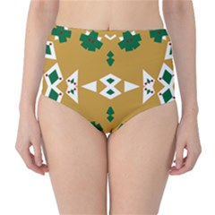 Alvilde Henriette Green High-Waist Bikini Bottoms