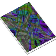 Colorful Abstract Stained Glass G301 Large Memo Pads