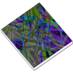 Colorful Abstract Stained Glass G301 Small Memo Pads