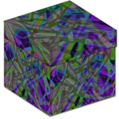 Colorful Abstract Stained Glass G301 Storage Stool 12