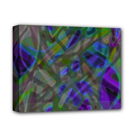 Colorful Abstract Stained Glass G301 Deluxe Canvas 14  x 11