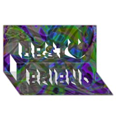 Colorful Abstract Stained Glass G301 Best Friends 3d Greeting Card (8x4)