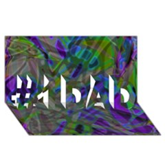 Colorful Abstract Stained Glass G301 #1 DAD 3D Greeting Card (8x4)