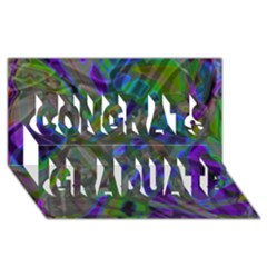 Colorful Abstract Stained Glass G301 Congrats Graduate 3D Greeting Card (8x4)