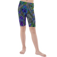 Colorful Abstract Stained Glass G301 Kid s swimwear