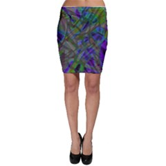 Colorful Abstract Stained Glass G301 Bodycon Skirts