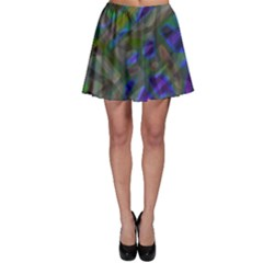 Colorful Abstract Stained Glass G301 Skater Skirts