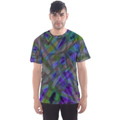 Colorful Abstract Stained Glass G301 Men s Sport Mesh Tees