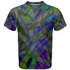 Colorful Abstract Stained Glass G301 Men s Cotton Tees