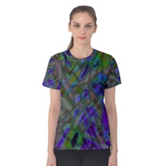 Colorful Abstract Stained Glass G301 Women s Cotton Tees
