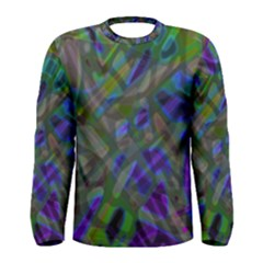 Colorful Abstract Stained Glass G301 Men s Long Sleeve T-shirts