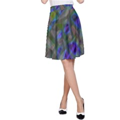Colorful Abstract Stained Glass G301 A Line Skirts