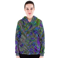 Colorful Abstract Stained Glass G301 Women s Zipper Hoodies