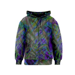 Colorful Abstract Stained Glass G301 Kids Zipper Hoodies