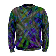 Colorful Abstract Stained Glass G301 Men s Sweatshirts