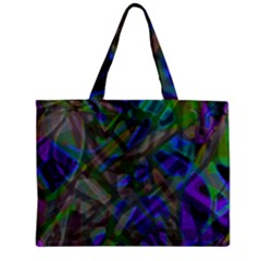 Colorful Abstract Stained Glass G301 Zipper Tiny Tote Bags