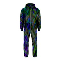 Colorful Abstract Stained Glass G301 Hooded Jumpsuit (Kids)