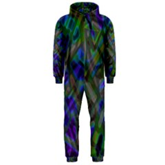 Colorful Abstract Stained Glass G301 Hooded Jumpsuit (Men)