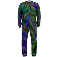 Colorful Abstract Stained Glass G301 OnePiece Jumpsuit (Men)