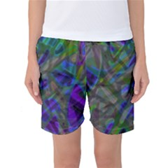 Colorful Abstract Stained Glass G301 Women s Basketball Shorts