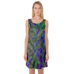Colorful Abstract Stained Glass G301 Sleeveless Satin Nightdresses