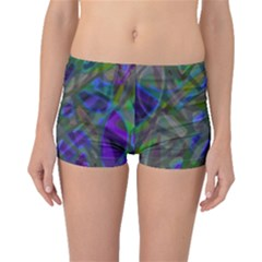 Colorful Abstract Stained Glass G301 Boyleg Bikini Bottoms