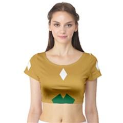 Alvilde Green 2 Short Sleeve Crop Top