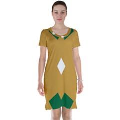 Alvilde Green 2 Short Sleeve Nightdresses