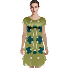 Alvilde Dina Green Cap Sleeve Nightdresses