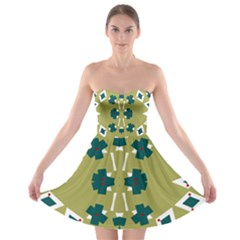 Alvilde Dina Green Strapless Bra Top Dress