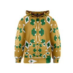 Alvilde Dina Green 2 Kids Zipper Hoodies