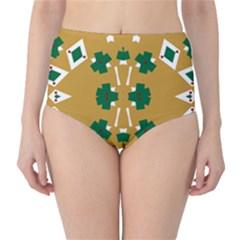 Alvilde Dina Green 2 High-Waist Bikini Bottoms