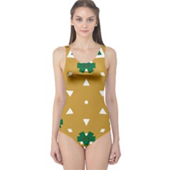 Alvilde Berit Green 2 Women s One Piece Swimsuits