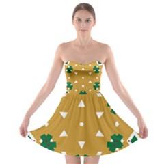 Alvilde Berit Green 2 Strapless Bra Top Dress