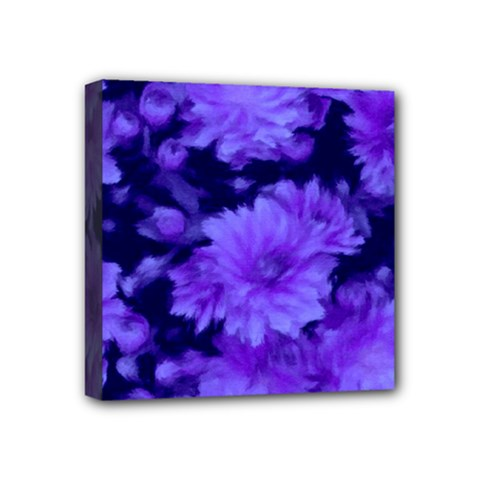 Phenomenal Blossoms Blue Mini Canvas 4  X 4