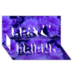 Phenomenal Blossoms Blue Best Friends 3d Greeting Card (8x4)