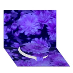 Phenomenal Blossoms Blue Circle Bottom 3d Greeting Card (7x5)