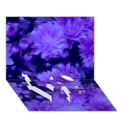 Phenomenal Blossoms Blue Love Bottom 3d Greeting Card (7x5)