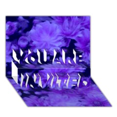 Phenomenal Blossoms Blue YOU ARE INVITED 3D Greeting Card (7x5)